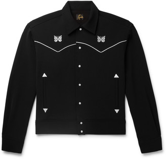 Needles Logo-Embroidered Piped Twill Overshirt