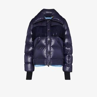 Moncler Grenoble Pourri quilted fringed coat