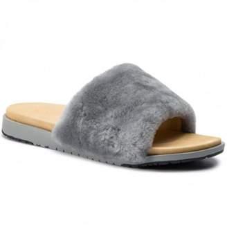 Emu Dove Grey Robe Sandal - 4 - Grey/Natural