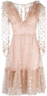 Temperley London Sequin Motifs Tulle Dress