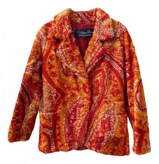 Christian Dior Orange Fur Jackets