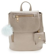 BP Faux Leather Backpack - Grey