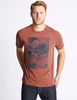 Marks and Spencer Big & Tall Cotton Rich Crew Neck T-Shirt