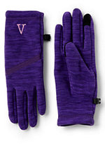 Classic Women's Midweight Melange Fleece EZ Touch Gloves-Burgundy Melange