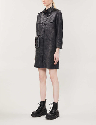 Zadig & Voltaire Rexy leather mini dress