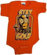 C3PO Stay Gold Star Wars Movie Baby Creeper Romper Snapsuit