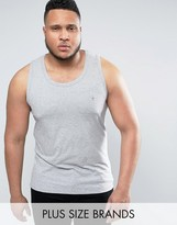 French Connection Plus Plain Muscle Fit Vest