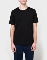 Lemaire Henley Tee Shirt in Black