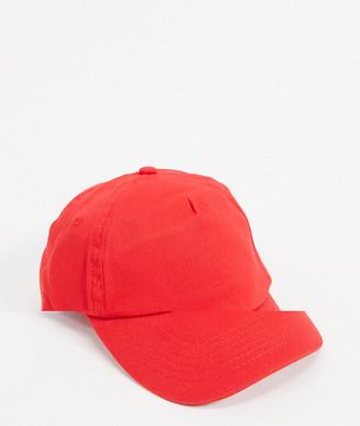 ASOS DESIGN baseball cap in red