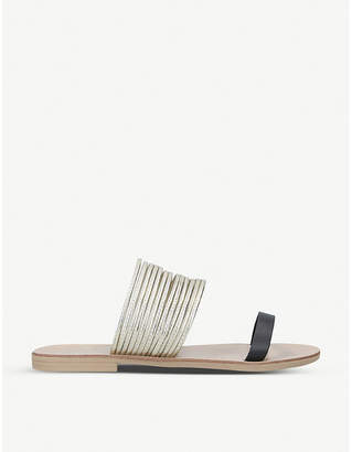 Kurt Geiger Rilson bangle-strap faux-leather sandals