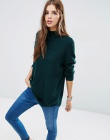 Asos Tunic With High Neck In Cashmere Mix
