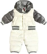 Moncler Greg Hooded Nylon Down Baby Bunting