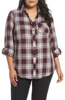 Foxcroft Plus Size Women's Addison Plaid Cotton Shirt