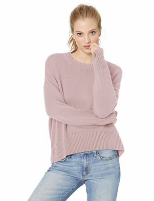 Daily Ritual Amazon Brand Women's 100% Cotton Boxy Crewneck Pullover Sweater