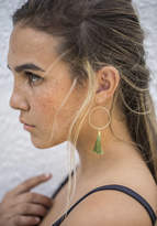 Etsy Olive Green Tassel Earrings with Circles, Gold Hoop Earrings with Tassel, Sterling Silver Country We