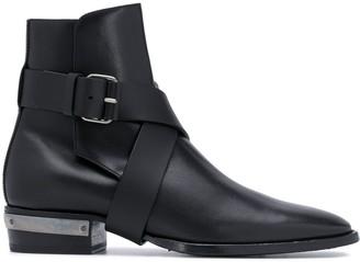 Balmain Buckle Detail Boots