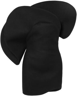 Saint Laurent One-shoulder Wool-felt Mini Dress