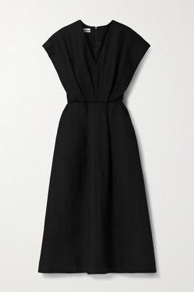 Co Pleated Twill Midi Dress - Black