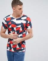 Lindbergh Geometric Print T-Shirt