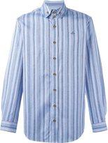 Vivienne Westwood Man embroidered logo striped shirt