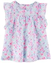 Osh Kosh Girls 4-12 Floral Woven Top