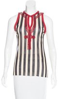 Jean Paul Gaultier Soleil Mesh Striped Top