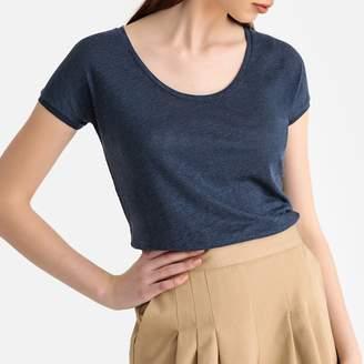 La Redoute Collections Linen Round-Neck T-Shirt