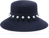 Maison Michel Kendall Felt Hat with Pearls