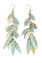 CALYPSO PRIVATE LABEL Patina Linear Petal Earrings