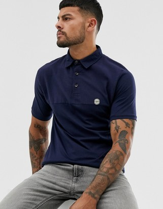 Le Breve slim fit polo shirt-Navy