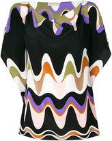 Emilio Pucci wave print blouse - women - Silk - 40