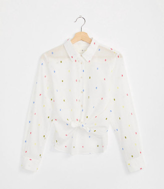 Lou & Grey Rainbow Clip Tie Front Shirt