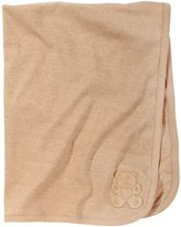 American Baby Company Organic Cotton Interlock Embroidery Blanket - Mocha