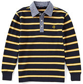 Brooks Brothers Big Boys 8-20 Chambray-Collar Striped Shirt