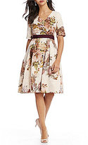 Adrianna Papell V-Neck Floral Printed Dress
