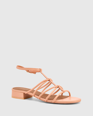 Wittner - Women's Pink Flats - Beckie Leather Open Toe Block Heel Flat Sandals - Size One Size, 40 at The Iconic