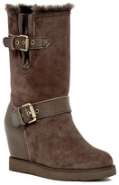Australia Luxe Collective Machina Tall Hidden Wedge Genuine Shearling And Genuine Leather Boot