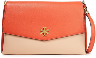 Tory Burch Kira Two-tone Pebbled-leather Shoulder Bag