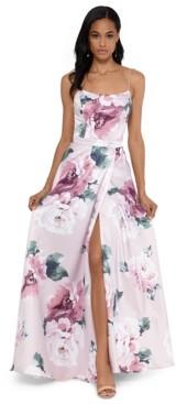 Xscape Evenings Floral-Print Tulip Gown