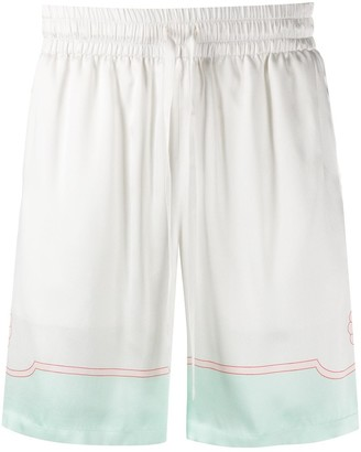 Casablanca Satin Tennis Shorts