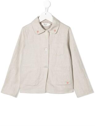 Bonpoint Flower Collar Cotton-Blend Jacket
