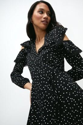 Coast Cold Shoulder Lace Trimmed Dress