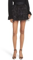 Milly Women's Feather Miniskirt