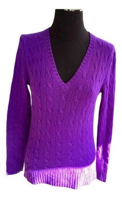Polo Ralph Lauren Purple Cashmere Knitwear