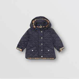 Burberry Childrens Detachable Hood Diamond Quilted Jacket