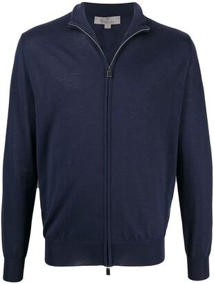 Canali Fine-Knit Zipped Cardigan