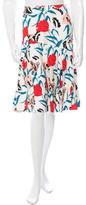 Thakoon Floral Print Knee-Length Skirt