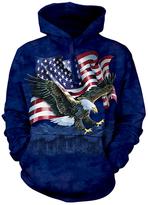 The Mountain Blue Eagle & Flag Hoodie - Unisex