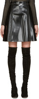 Proenza Schouler Black Coated A-line Skirt