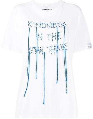 Golden Goose stitched slogan print T-shirt